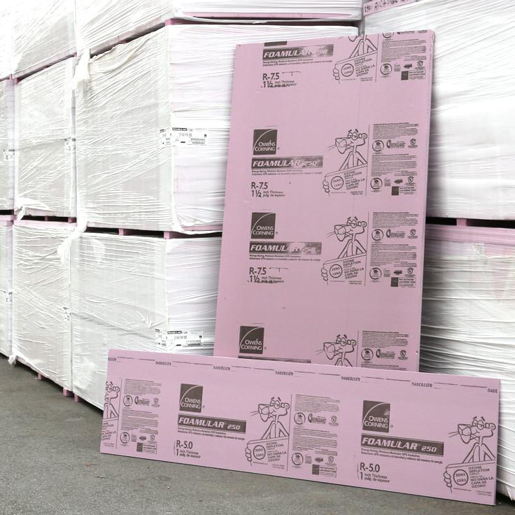 Distributor of foamular xps rigid foam insulation board for Pink insulation r value